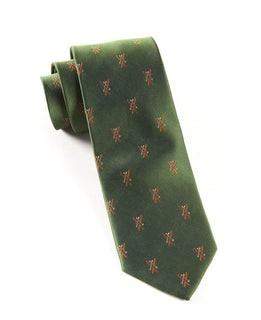 Alpine Skis Dark Clover Green Tie