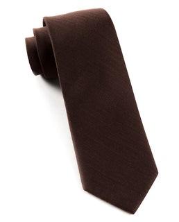 Astute Solid Chocolate Tie
