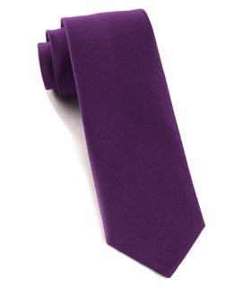 Astute Solid Plum Tie
