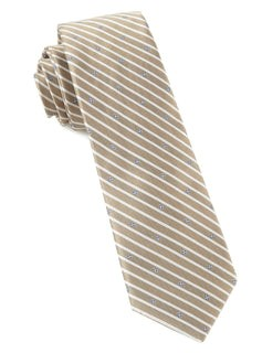 Arbor Stripe Champagne Tie
