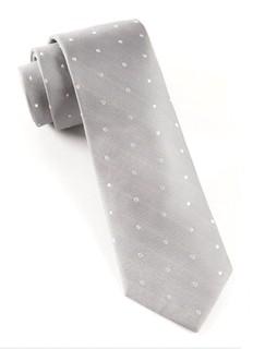 Ringside Dots Silver Tie