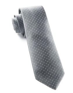 Mini Dots Grey Tie