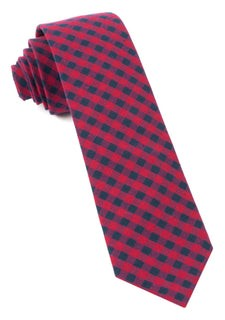 Gingham Shade Apple Red Tie