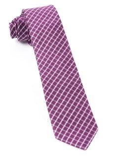 Textured Checks Azalea Tie