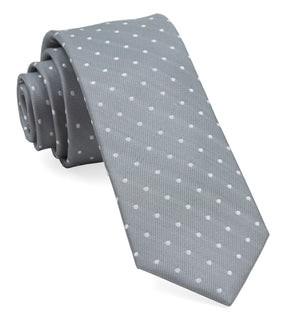 Mumu Weddings - Seaside Dot Silver Sage Tie