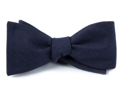 Astute Solid Navy Bow Tie