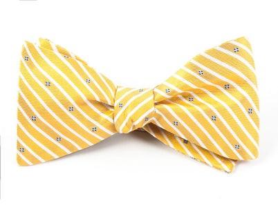 Arbor Stripe Yellow Bow Tie