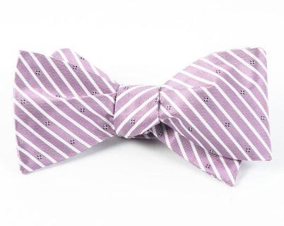 Arbor Stripe Wisteria Bow Tie