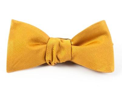 Grosgrain Solid Mustard Bow Tie