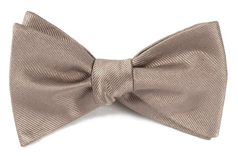 Grosgrain Solid Champagne Bow Tie