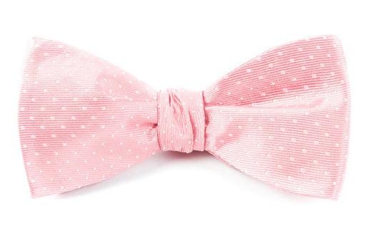 Mini Dots Salmon Pink Bow Tie