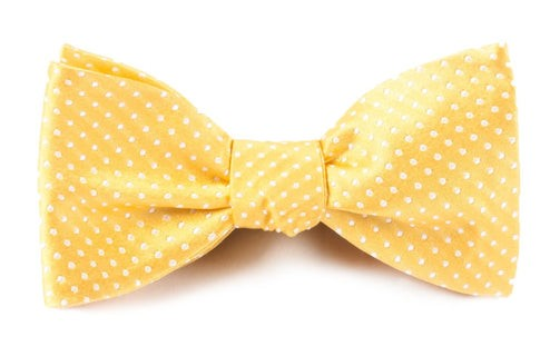Pindot Gold Bow Tie