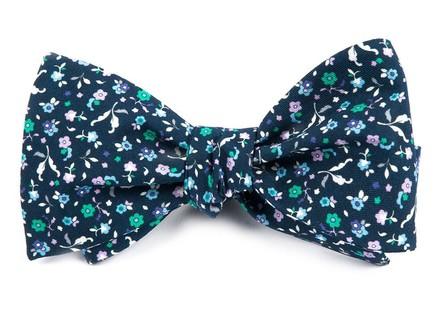 Fentone Floral Navy Bow Tie