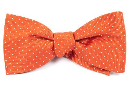 Mini Dots Orange Bow Tie