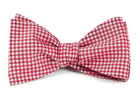 Bahama Checks Red Bow Tie
