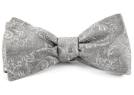 Ceremony Paisley Silver Bow Tie