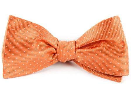 Mini Dots Tangerine Bow Tie