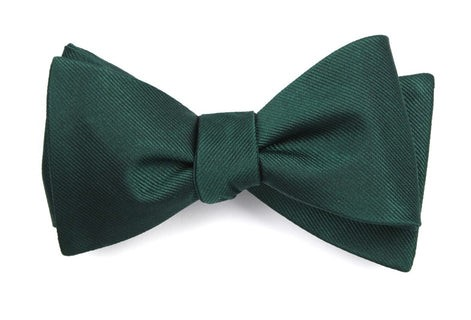 Grosgrain Solid Hunter Bow Tie