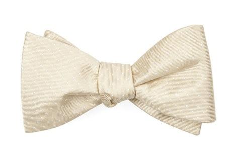 Mini Dots Light Champagne Bow Tie