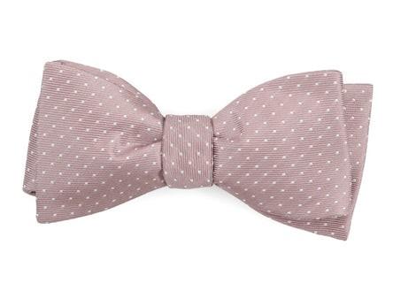 Mini Dots Mauve Stone Bow Tie