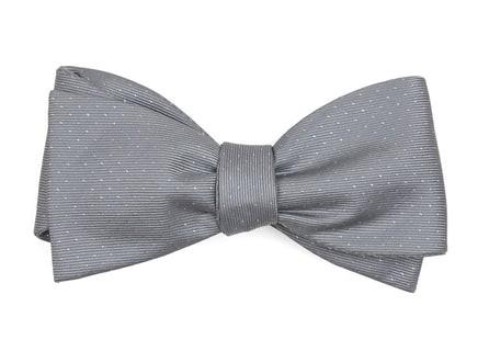 Flicker Silver Bow Tie