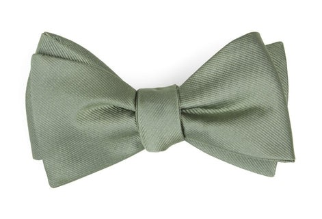 Grosgrain Solid Sage Green Bow Tie