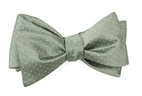 Mini Dots Sage Green Bow Tie