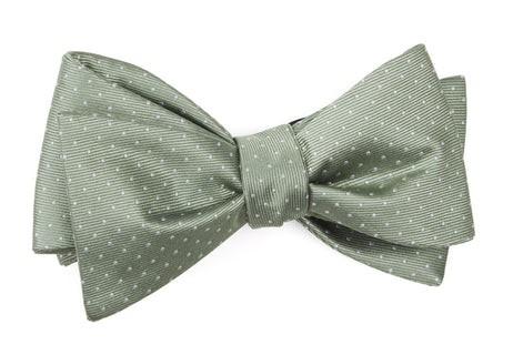 Mini Dots Sage Green Bow Tie