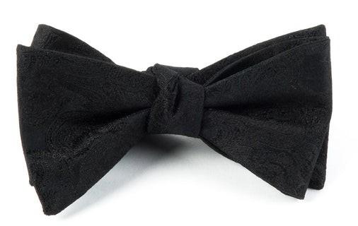 Designer Paisley Black Bow Tie
