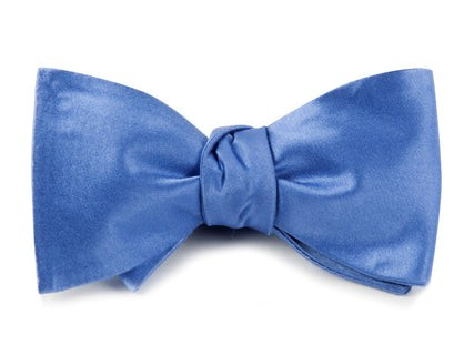 Solid Satin Light Cornflower Bow Tie