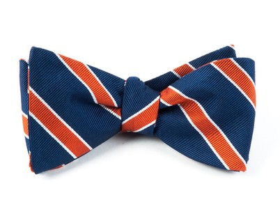 Honor Stripe Orange Bow Tie