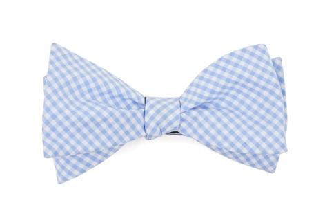 Petite Gingham Sky Bow Tie