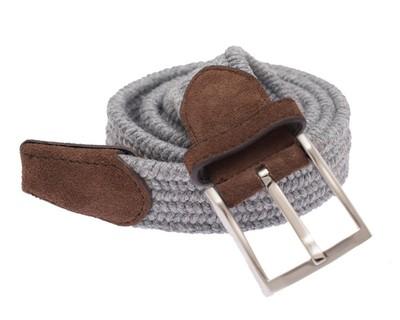 Textured Braided Grey Belt