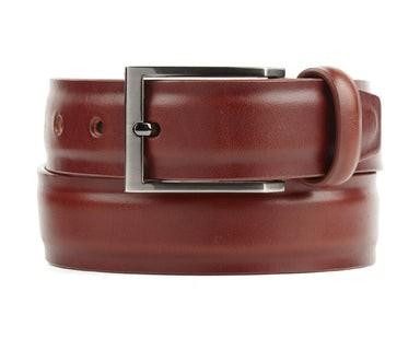 Solid Leather Cognac Belt