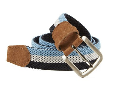 On Your Mark Stripe Light Blue Belt