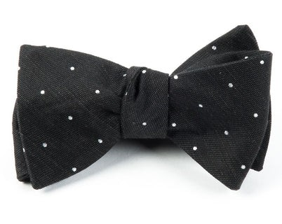 Bulletin Dot Black Bow Tie