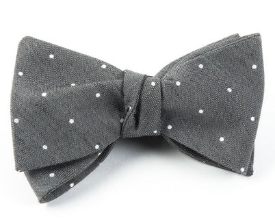 Bulletin Dot Grey Bow Tie