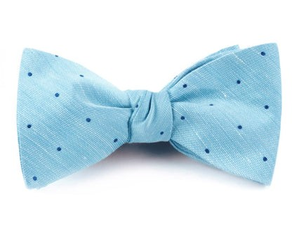 Bulletin Dot Washed Pool Blue Bow Tie