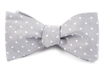 Dotted Dots Silver Bow Tie