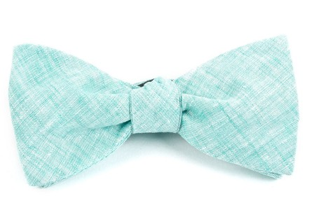 Freehand Solid Spearmint Bow Tie