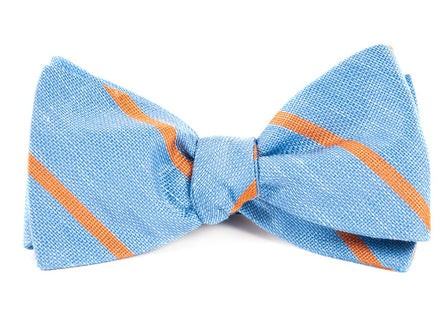 Spring Break Stripe Light Blue Bow Tie