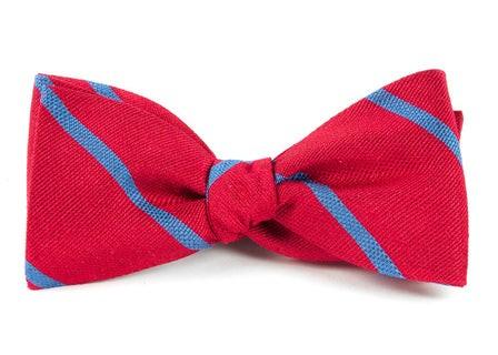 Spring Break Stripe Apple Red Bow Tie