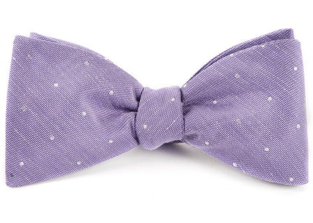 Bulletin Dot Lavender Bow Tie