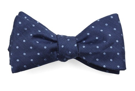 Dotted Dots Classic Blue Bow Tie