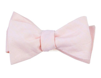 Linen Row Blush Pink Bow Tie