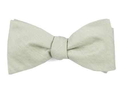 Linen Row Sage Green Bow Tie