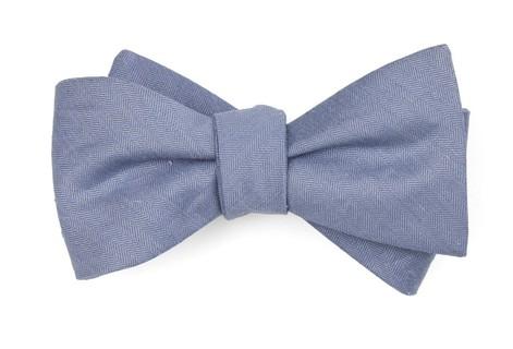 Linen Row Slate Blue Bow Tie