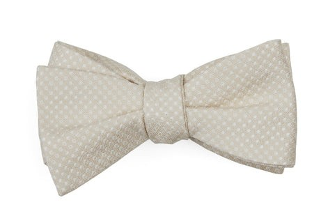 Dotted Spin Light Champagne Bow Tie