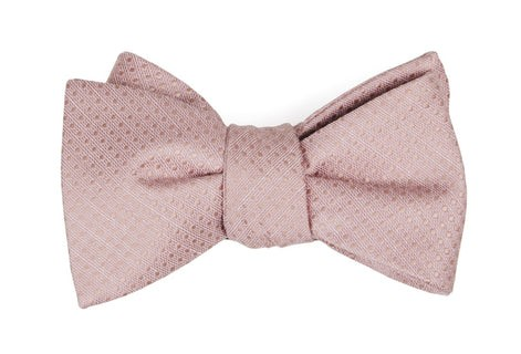Dotted Spin Blush Pink Bow Tie