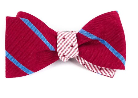 Spring Break Dots Red Bow Tie